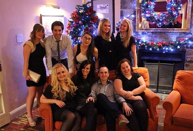 Рождественская вечеринка-корпоратив, 2015 год (я справа вверху).