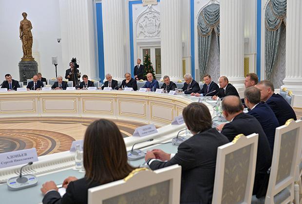 Встреча Владимира Путина с представителями деловых кругов в Кремле, 2014 год