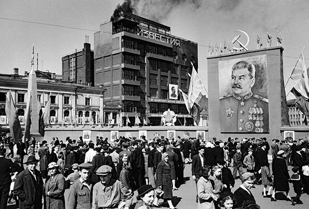 Первомайские гулянья в Москве, 1948 год