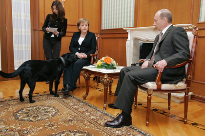 Встреча Ангелы Меркель и Владимира Путина в 2007 году