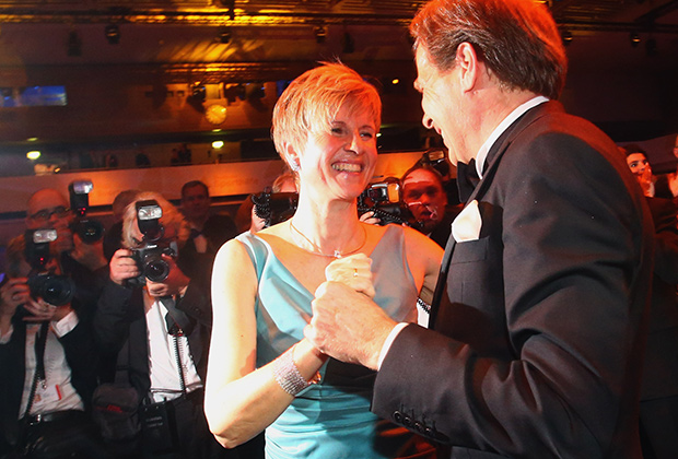 Сюзанн Клаттен с мужем, 2013 год