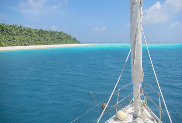 Остров Bodham атолла Salomon