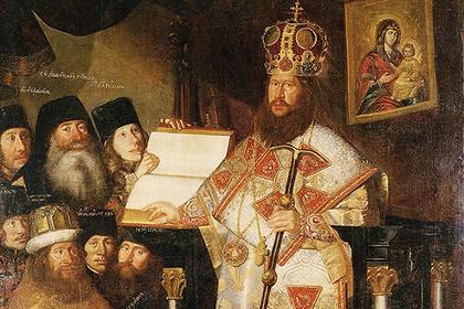 Патриарх Никон с братией Воскресенского Ново-Иерусалимского монастыря. 1660-1665 годы