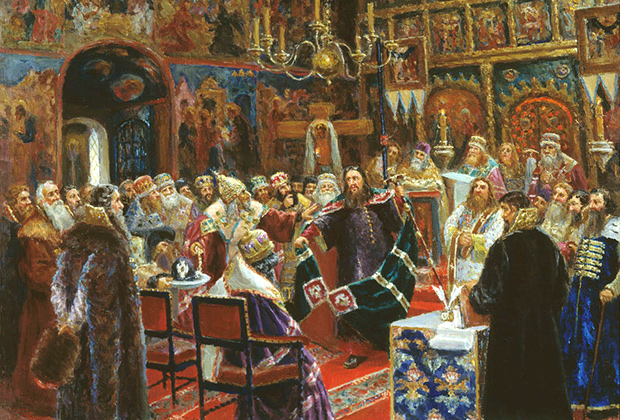 Картина  «Суд над патриархом Никоном» Сергея Милорадовича