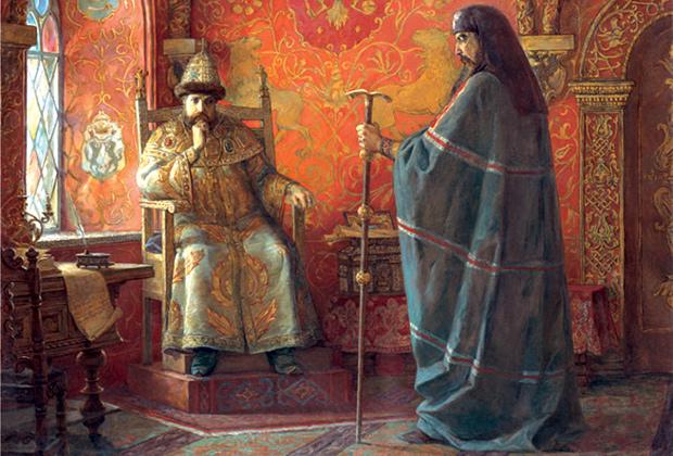 Фрагмент картины Игоря Машкова «Царь Алексей Михайлович и Патриарх Никон»