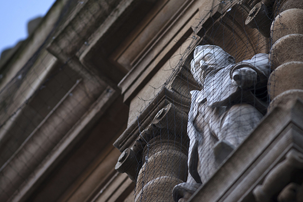 Mandatory Credit: Photo by REX/Shutterstock (5541192b) The controversial Statue of Cecil Rhodes on the front of Oriel Collage in the High Street Statue of Cecil Rhodes outside Oriel College, Oxford, Britain - 14 Jan 2016