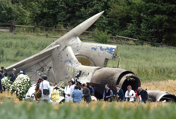 Место падения самолета Ту-154М