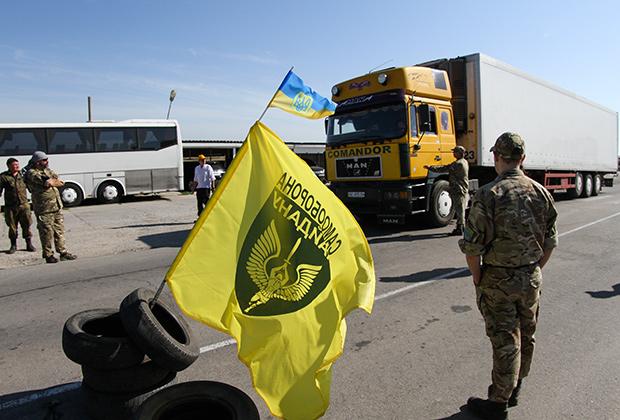 Контрольно-пропускной пункт «Чонгар» на границе Украины и России