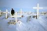 Деревенское кладбище расположено в самом центре деревни, напротив единственного культового сооружения Шишмарёва — лютеранской церкви.