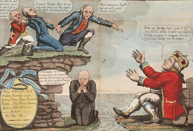 Карикатура на Хартфордский конвент (конференцию сторонников Федералистской партии)