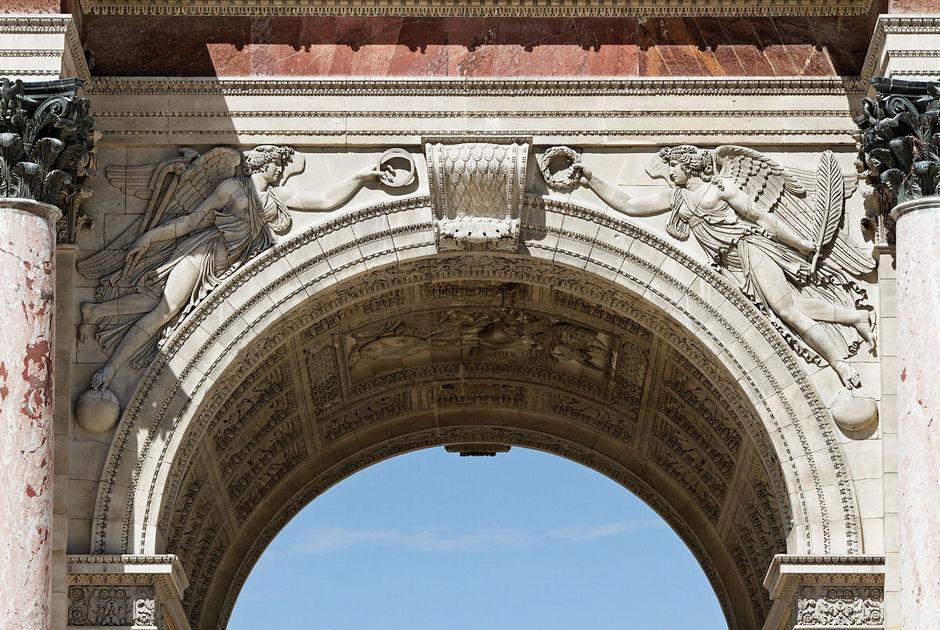 Пазухи свода (Триумфальная арка на площади Каррузель, Париж)