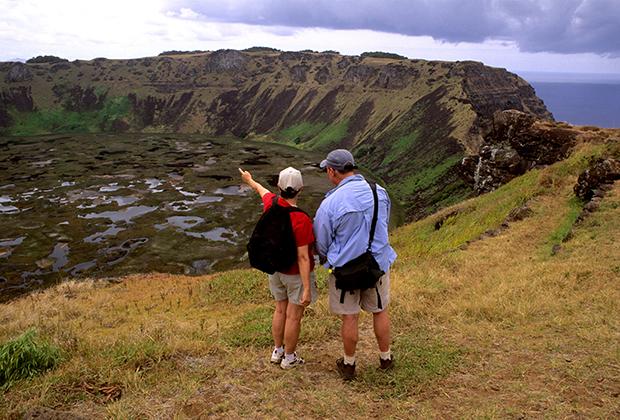 Характерный пейзаж острова Пасхи