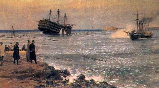 И.А.Владимиров «Затопление кораблей Черноморского флота на Севастопольском рейде 11 сентября 1854 года»