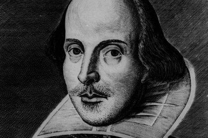 Изображение, которое считают единственным достоверным портретом Шекспира