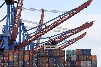 Торговый порт в Гамбурге