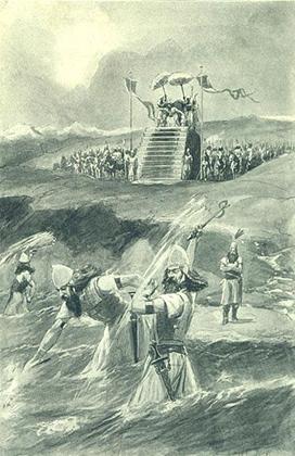 Ксеркс наказывает море