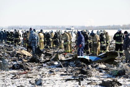 Кадр с места авиакатастрофы