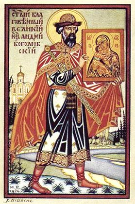 Князь Боголюбский с похищенной иконой Божией Матери
