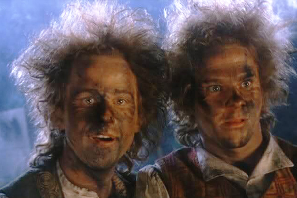 Мерри и Пиппин, кадр из фильма «Властелин колец»
