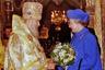 Встреча с Алексием II, 1994 год, Успенский собор, Москва. Патриарх Московский и всея Руси умер в 2008 году в возрасте 79 лет.