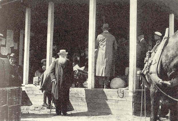 Петр Алексеевич Кропоткин проездом в Хапаранде, Швеция, 1917 год