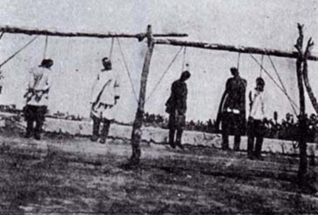 Казнь в Туркестанском крае участников национально-освободительного восстания, 1916 год