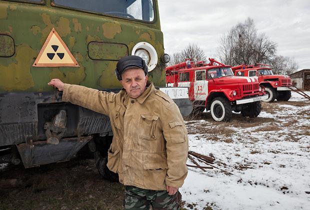 Чернобыль — 30 лет после аварии на Чернобыльской АС. Село Парышев. Действующая пожарная часть в зоне отчуждения