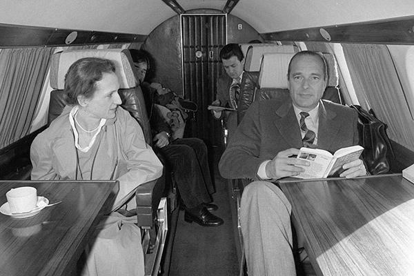 Жак Ширак с дочерью Лоранс