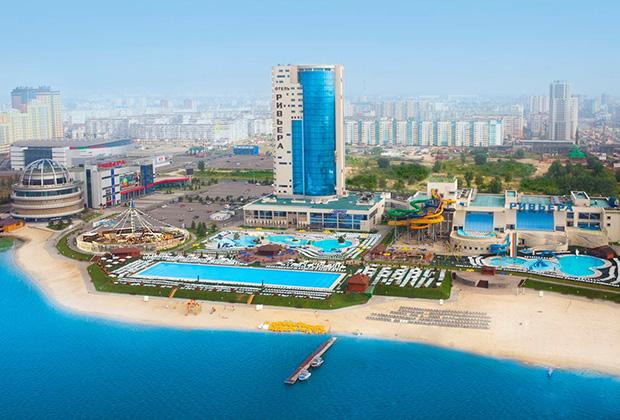 Бассейн в отеле «Волжская Ривьера» пользуется огромной популярностью у туристов и местных жителей