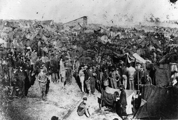 Концлагерь Андерсонвилль, август 1864 года