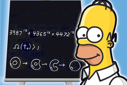 Simpsons ... Homer with Fermat's Last Theorem