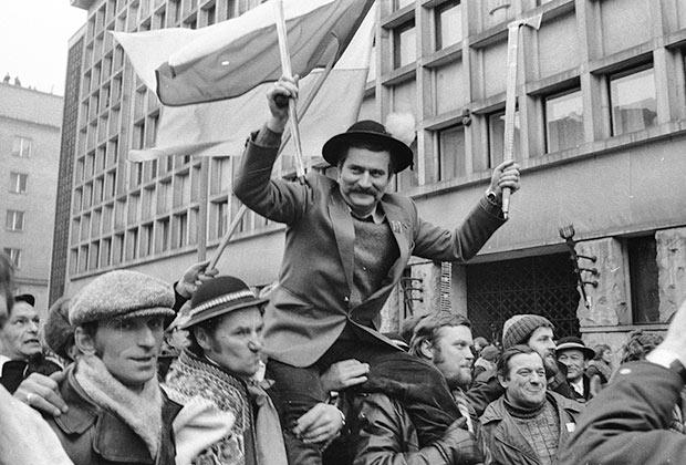 Председатель «Солидарности» Лех Валенса, 1981 год