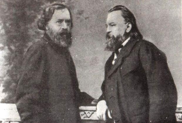 А.И. Герцен и Н.П. Огарев. Лондон, 1861 год