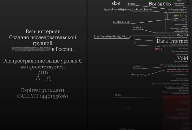 Карта интернета, созданная одним из сообществ нетсталкеров.
