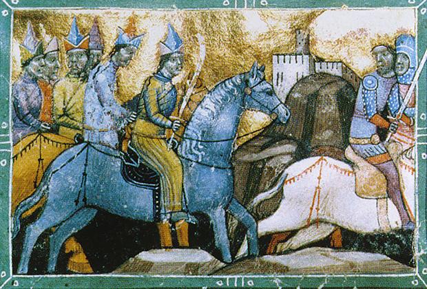 Бегство венгерского короля от войска Кадана