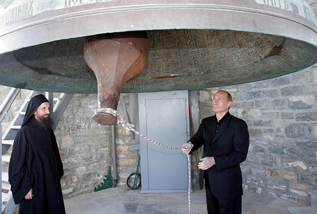 Владимир Путин на Святой горе Афон в 2005 году