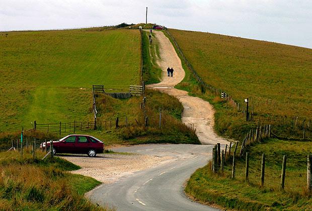 Столб от гиббета около деревни Комб (графство Беркшир)