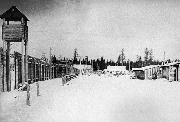 Иркутская область. Один из лагерных пунктов Озерного исправительно-трудового лагеря №7, 1951 год