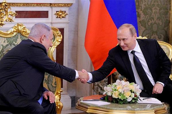Биньямин Нетаньяху и Владимир Путин