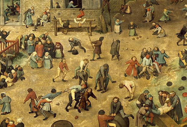 «Игры детей» Питера Брейгеля Старшего (фрагмент картины)