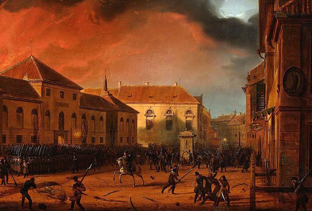 Панорама Марцина Залеского «Взятие варшавского арсенала». Польское восстание, 1830 год
