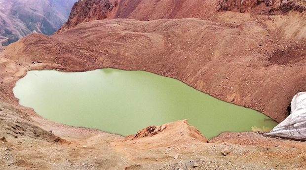 Озеро №6 ледника Маншук Маметовой