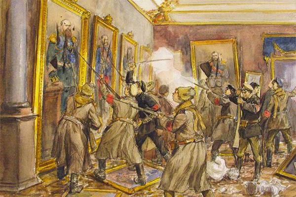 Картинки по запросу штурм зимнего дворца картинки