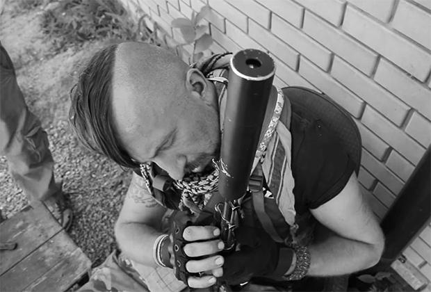 Василий Слипак в зоне боевых действий в Донбассе