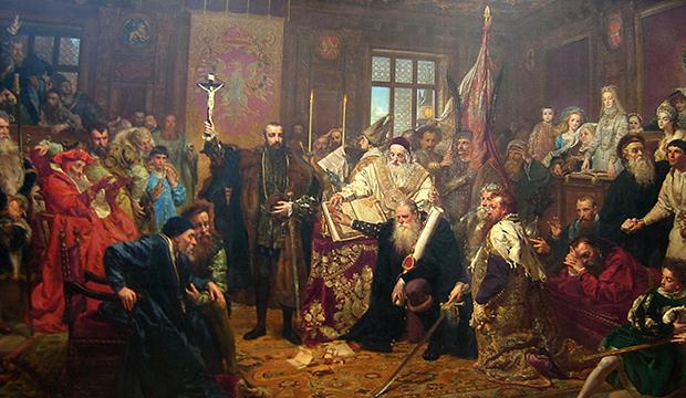 Картина Яна Матейко «Люблинская уния». 1869 год