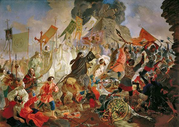 Карл Брюллов, «Осада Пскова польским королем Стефаном Баторием в 1581 году». 1839-1843 годы