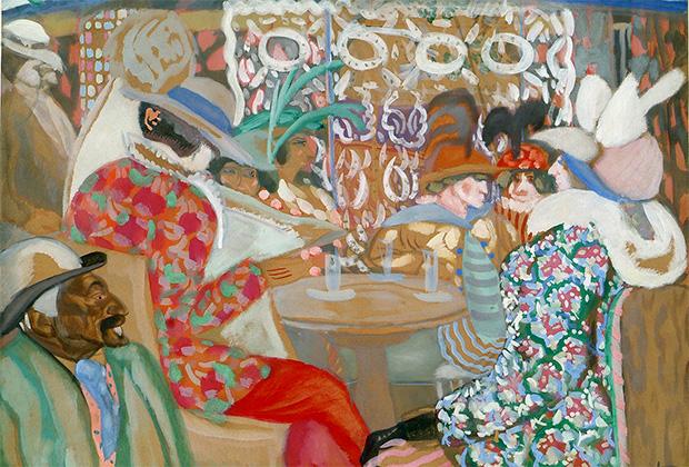 Борис Григорьев, «Парижское кафе», 1913 год
