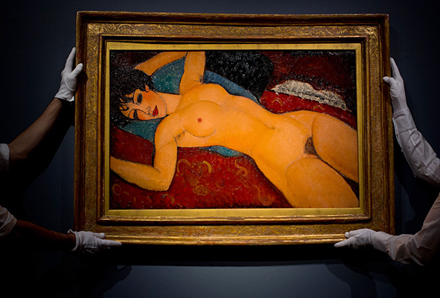Амедео Модильяни, «Лежащая обнаженная», 1918 год