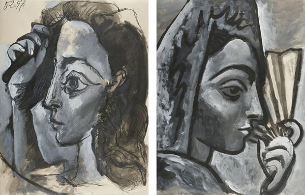 Пабло Пикассо, портреты Жаклин Рок