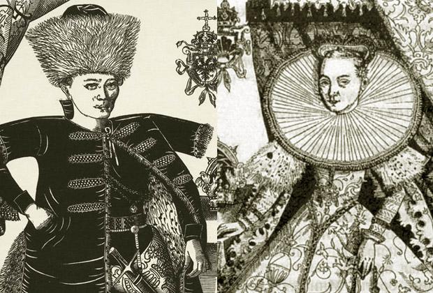 Лжедмитрий I и Марина Мнишек. Гравюра Франца Снядецкого,1606 год